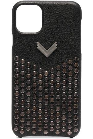 Manokhi Mobil Covers - IPhone 11 Pro cover i læder med nitter