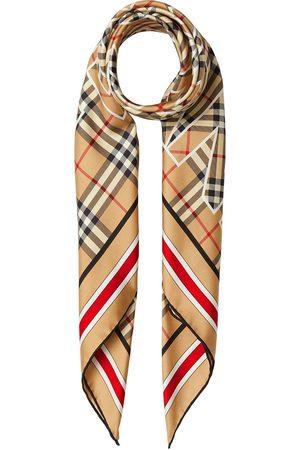 Burberry Tørklæder - Firkantet tørklæde med vintage-tern og logotryk