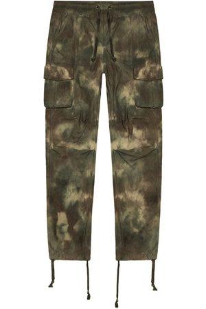 John Elliott Mænd Cargo bukser - Kamouflagemønstret cargo-bukser med batiktryk