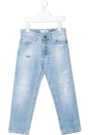Dondup Kids Jeans med lige ben og slitageeffekt
