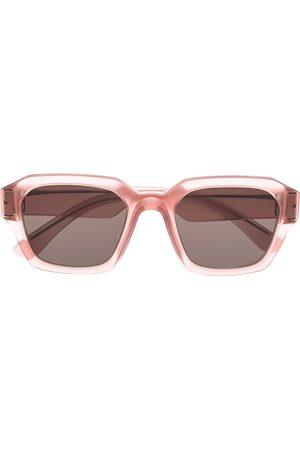 Mykita X Maison Margiela-solbriller med rektangulært stel