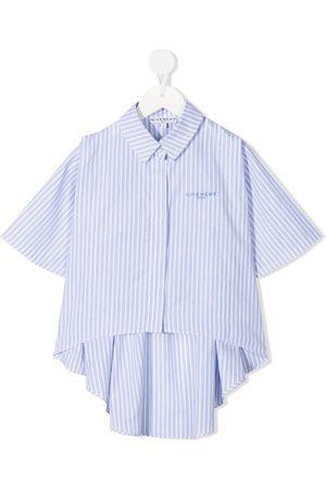Givenchy Kids Piger Sweatshirts - Embroidered-logo shirt