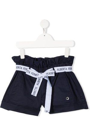 Alberta Ferretti Kids Logo belt shorts