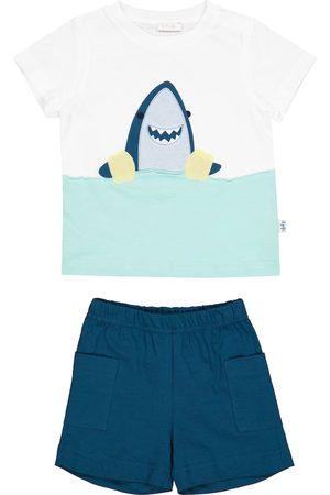 adidas Baby cotton jersey T-shirt and shorts set