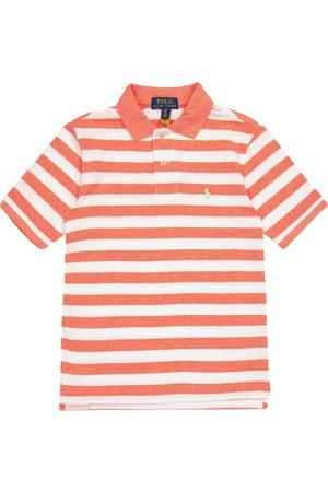 adidas Striped cotton piqué polo shirt