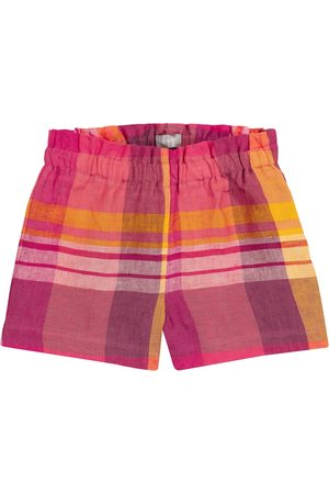 adidas Checked linen shorts