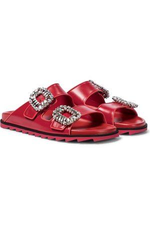 adidas Slidy Viv' Strass leather slides