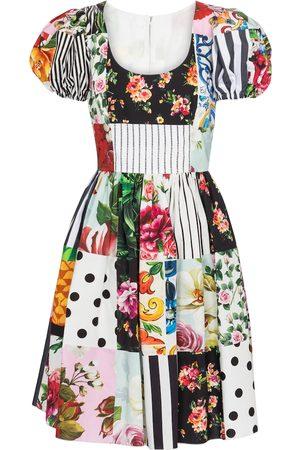 adidas Kvinder Festkjoler - Printed cotton minidress