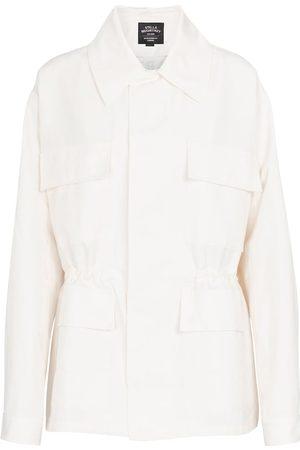 adidas Cotton and linen-blend jacket