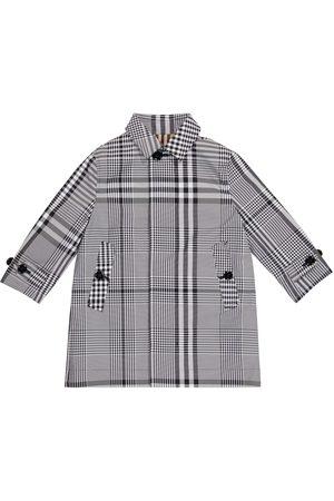 adidas Vintage Check reversible gabardine coat
