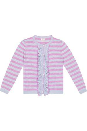 adidas Piger Cardigans - Nacho striped cotton-blend cardigan