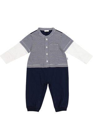 adidas Baby striped cotton jersey onesie