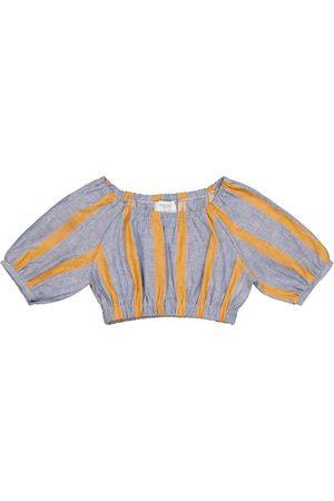 adidas Sasha linen and cotton crop top