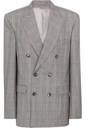 adidas Kvinder Blazere - Checked virgin wool blazer