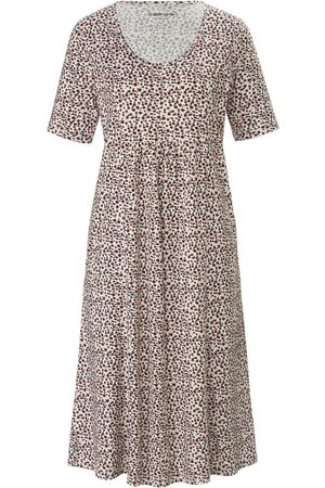 Green Cotton Kvinder Casual kjoler - Jerseykjole korte ærmer i 100% bomuld Fra hvid