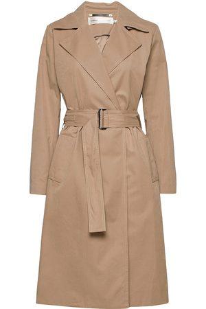 adidas Kvinder Trenchcoats - Yumaiw Coat Trenchcoat Frakke Beige