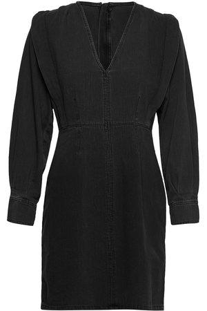 adidas Kvinder Sommerkjoler - Vita Short Denim Dress Dresses Jeans Dresses