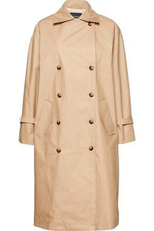 Soaked in Luxury Kvinder Trenchcoats - Slohio Trench Coat Trenchcoat Frakke Beige