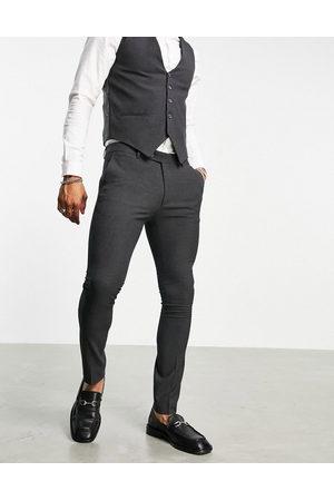 Bolongaro Mænd Habitbukser - Ensfarvede skinny-habitbukser i