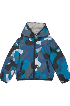 save the duck Camouflage Print Recycled Nylon Jacket