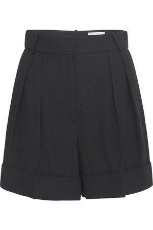 Alexander McQueen Kvinder Shorts - Tailored Crepe Bermuda Shorts