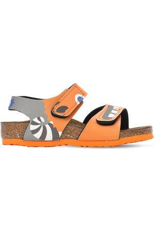 Birkenstock Monster Print Faux Leather Sandals