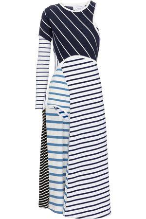Marine Serre Striped cotton midi dress
