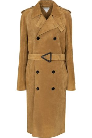 Bottega Veneta Double-breasted suede trench coat