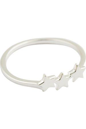 syster P Kvinder Ringe - Snap Ring Plain Triple Star Silver Ring Smykker