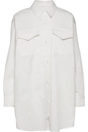Designers Remix Kvinder Vinterfrakker - Billy Shirt Coat Overshirts Creme