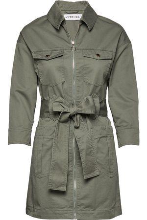 Ivyrevel Kvinder Trenchcoats - Utility Twill Dress Trenchcoat Frakke Beige