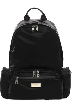 Dolce & Gabbana Mænd Rygsække - Logo Plaque Nylon Backpack