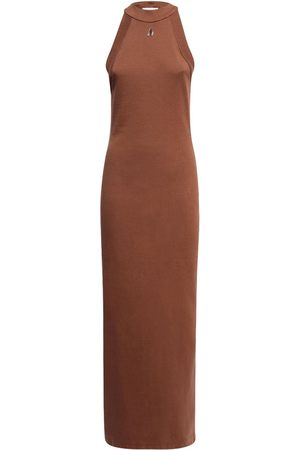 The Attico Ema Cotton Jersey Long Dress