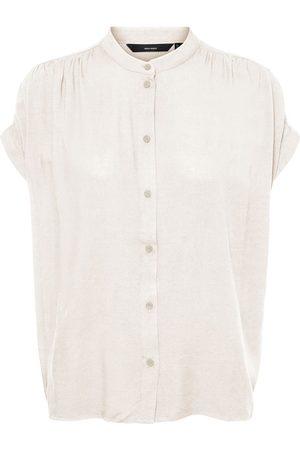 Vero Moda Short Sleeved Shirt Kvinder White
