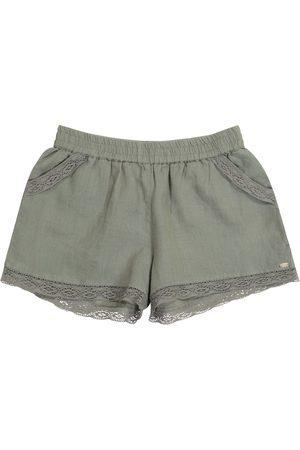 Tartine Et Chocolat Lace-trimmed linen shorts