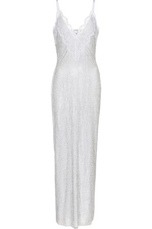 Christopher Kane Exclusive to Mytheresa – Lace-trimmed crystal mesh bridal gown