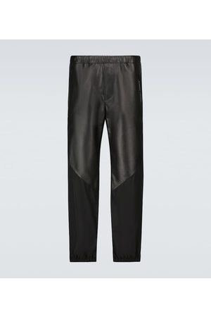 Givenchy Mænd Bukser - Leather and nylon trackpants