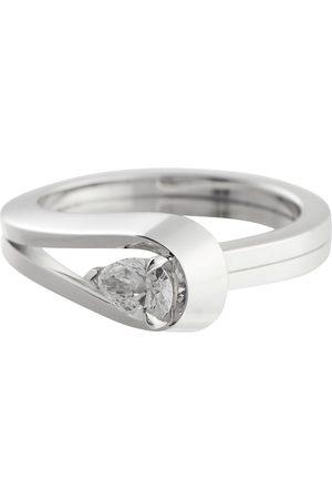 Repossi Kvinder Ringe - Serti Inversé 18kt white gold ring with diamond