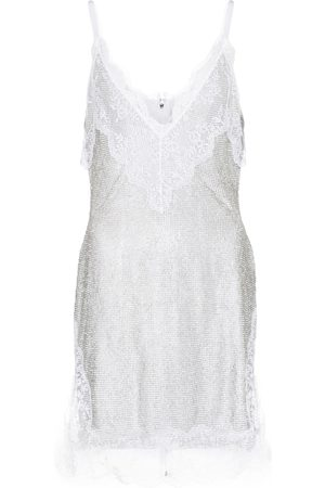 Christopher Kane Bridal lace crystal mesh minidress