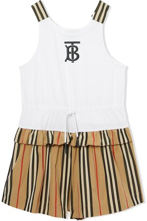 Burberry Piger Playsuits - Icon-stripe playsuit