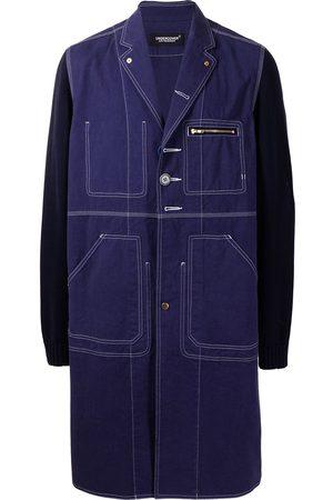 UNDERCOVER Mænd Frakker - Enkeltradet frakke med colourblocking