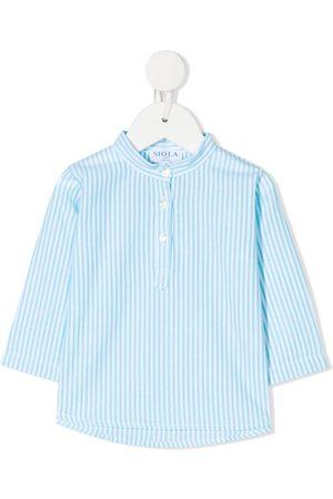 SIOLA Drenge Langærmede skjorter - Stribet skjorte med knapper
