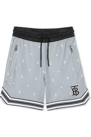 Burberry Star and monogram mesh shorts
