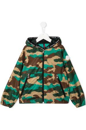 Moncler Drenge Regntøj - Camouflage-print jacket