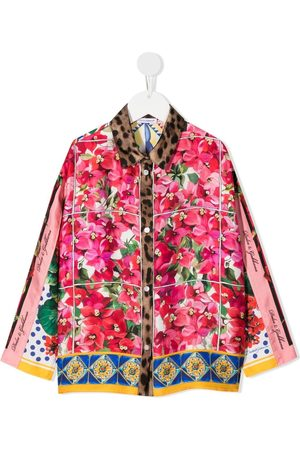 Dolce & Gabbana Silk mixed-print shirt