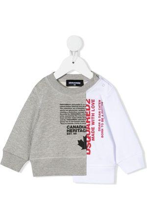Dsquared2 Patchwork logo sweatshirt
