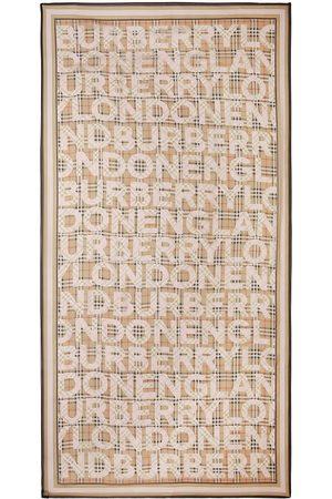 Burberry Tørklæder - Vintage Check logo print silk scarf