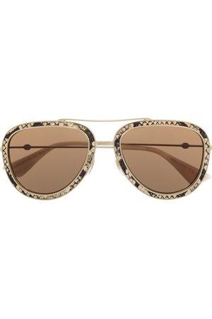 Gucci Solbriller - Snakeskin-effect tinted sunglasses