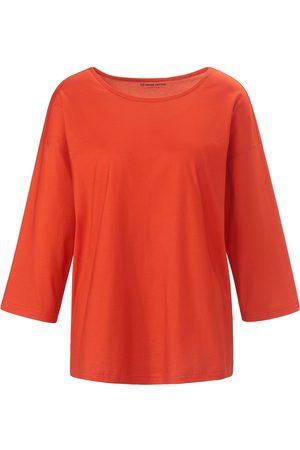 Green Cotton Kvinder Langærmede - Bluse 3/4-ærmer i 100% bomuld Fra rød
