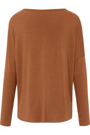 DAY.LIKE Kvinder Bluser - Bluse rund hals og lange ærmer Fra brun